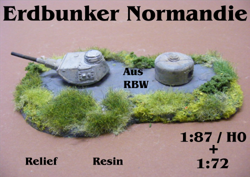 Erdbunker Normandie Resin