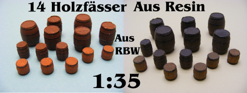 14 Holzfässer Resin