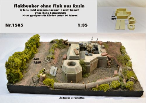 Flakbunker ohne Flak 1:35 Resin