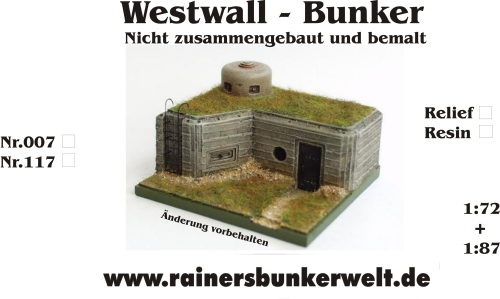 Westwall Bunker 1:72