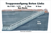 Treppenaufgang Beton Links 1:72 Resin